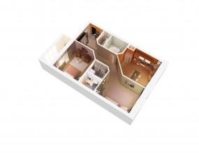 Планировки квартир в 3D.
