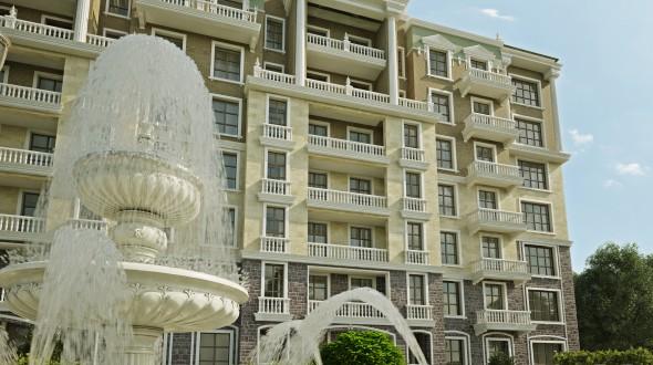 3D визуализация 7 этажного дома