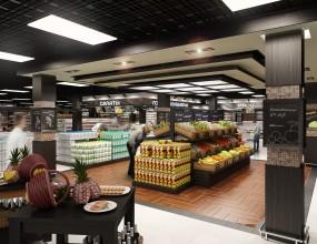 Дизайн фрешмаркета «Лайм» площадью 1200 м.кв., г. Санкт-Петерб...
