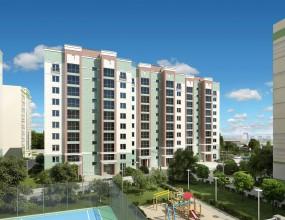 Визуализация жилого дома в ЖК «Изумрудный город»