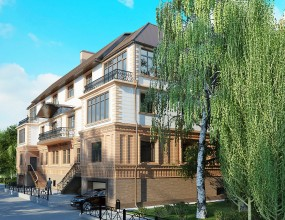 Дизайн фасадов здания по ул. Овражная, г. Казань