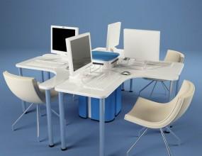 Дизайн столов для компьютерного класса гимназии.